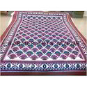 Woolen Rangoli Bed Cover
