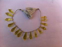 Fancy Beads of Lemon Topaz Gemstone