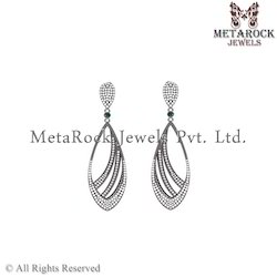 Latest Design 925 Sterling Silver Diamond Earring