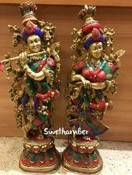Brass Radha Krishna idols