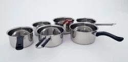 Ankur Silver SS Saucepan Set
