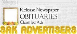 Obituaries Classified Ads In News Paper