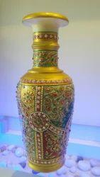 Golden Marble Design Pot