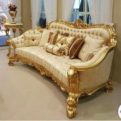 Delicieux Wooden Carving Sofa