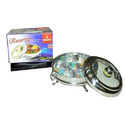 Stainless Steel Designer Bowl with Glass Lid