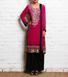 Designer Embroidery Pakistani Style Long Salwar Kurti Suit