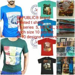 Round Printed Republic Brand T Shirts