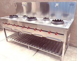 5 Burner Chinese Cooking Range