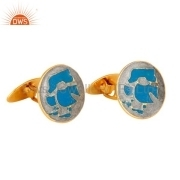 Designer Enamel Mens Cufflinks Jewelry