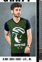 Mens Half Sleeve Printed T Shirt