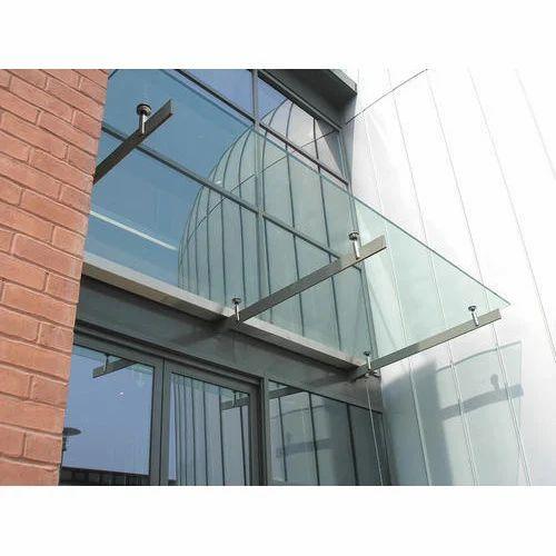 Stainless Steel Glass Canopy, SS Canopy, जंगरोधी इस्पात की ...