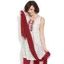 Lady Wears Cotton Kurti