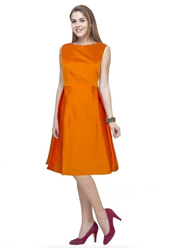 88f98741f53a0 Orange Festive And Party Wear Exclusive Designer Frocks