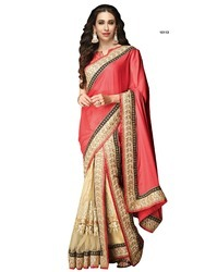 Orange Ethnic Indian Sarees