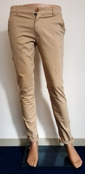Flat And Pleated Cotton Lycra Trouser