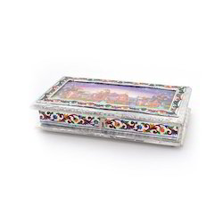 Decorative White Metal Dry Fruit Box 302
