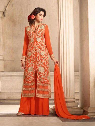 bc1f678f68 Orange Plazo Suit at Rs 1299 /piece | Plazzo Suit, प्लाज़ो ...
