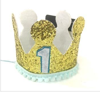 1st Birthday Boy Crown Hat