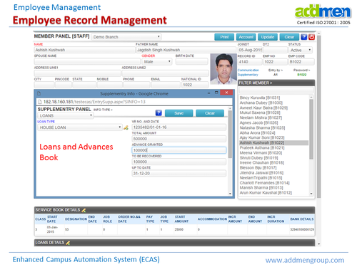 employee records management system Employee Record Management System - Addmen Multi Studios, Gwalior ...
