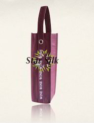 Recycled Organic Cotton Wine Bottle Bag