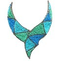 Embroidered Collar Necklace