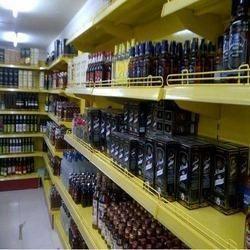 Stainless Steel Beverage Racks, For Supermarket, 4 Shelves