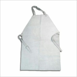 White Leather Apron, For Construction, Size: Large