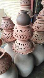Designer Clay Lantern