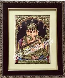 Ganapathy with Veenai Tanjore Paintings
