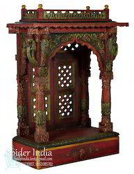 Handcrafted Teak Wood Home Pooja Mandir / Temple