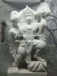 Veer Hanuman Marble Moorti