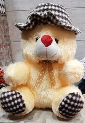 Cute Lamb Stuffed Animals, Unisex Multiple Cap Teddy Bear 50cm Rs 350 Piece Yogesh Enterprises Id 20111759991