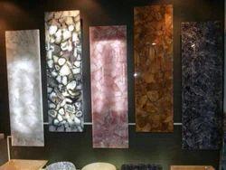 Rose Quartz Agate Semi Precious Stones Slab