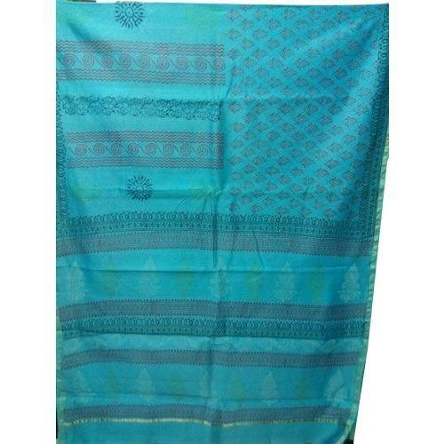 Sea Green Designer Chanderi Silk Saree
