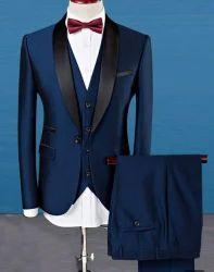 Blue Mens 3 Piece Suit