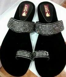 Black Women Ladies Footwear, Size: 5 To 10