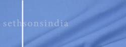 Sethsons India Plain Blue Polyester Viscose Fabric, Gsm: 150-200 Gsm, For Clothing