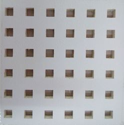 PVC Laminated Perforated Swallet Gypsum Ceiling Tiles