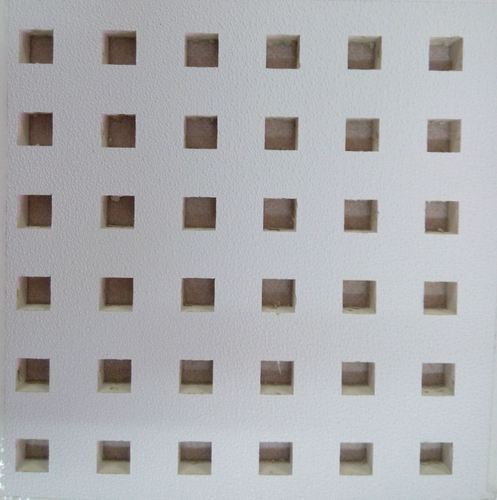 Designer And Perforated Gypsum Ceiling Tiles Pvc