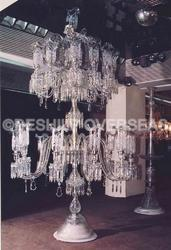 Frosted Cut Pedestal Lamps