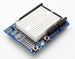 Arduino Protoshield with Mini Breadboard