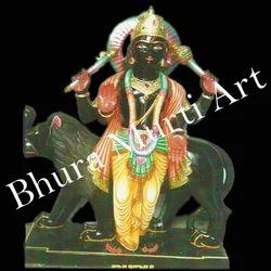 Black Marble Budh Graha Statue