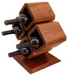 Wooden 4 Bottle Stand