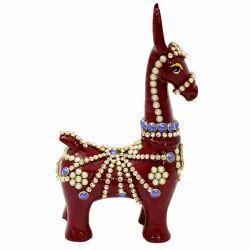 Meenakari Work Horse Kutchi MT025