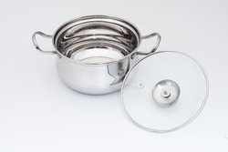 Belly Dish 1 Belly Cook N Serve Dish & Pot With Glass Lid, Model Name/Number: Bd101, For Home