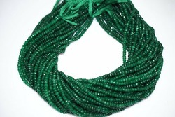 Dyed Emerald Faceted Rondelle Beads Strand