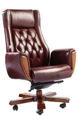 Brown PU Leather High Back Office Chair