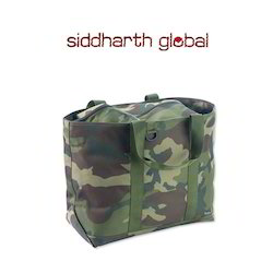 Camouflage Military Canvas Tote