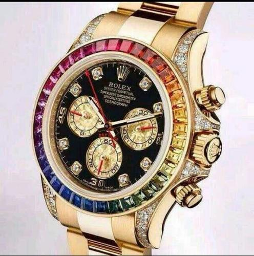 Rolex Cosmograph Daytona Rainbow Edition Quartz Mens Watch At Rs