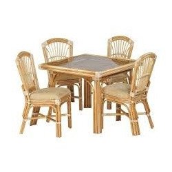 Beautiful Cane Dining Table Set
